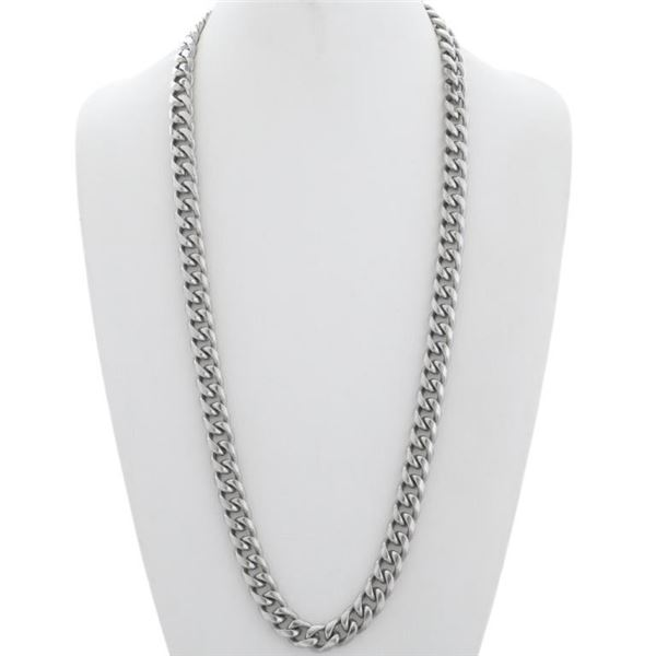 Heavy Silver Plated Link Chain