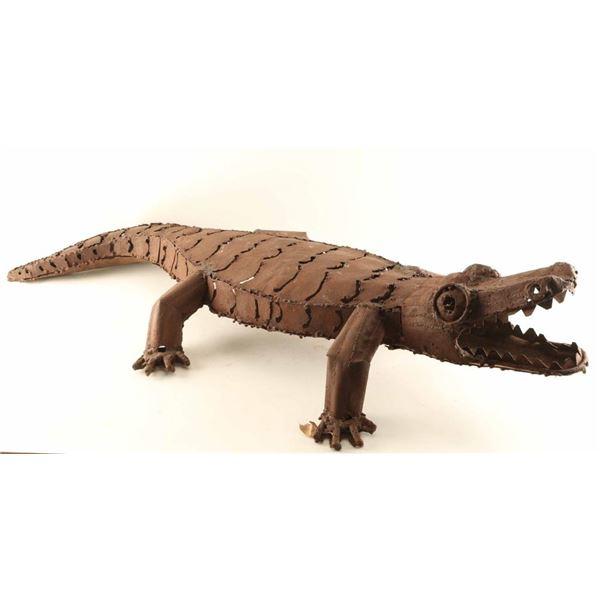 Crocodile Metal Yard Art
