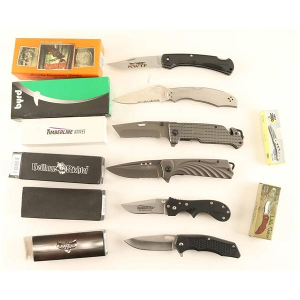 Lot of Eight Folding Knives