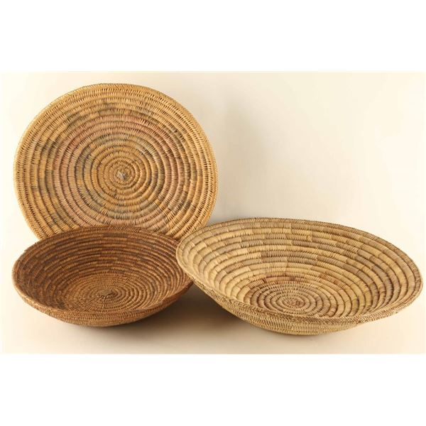 Lot of (3) Navajo Basketry Meal Trays