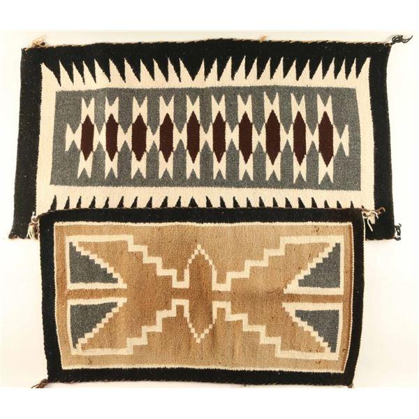Lot of 2 Small Navajo Rugs