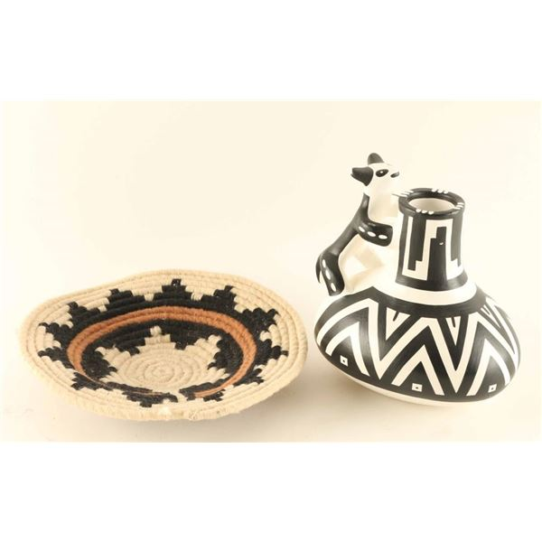 Modern Anasazi Vase& Basket