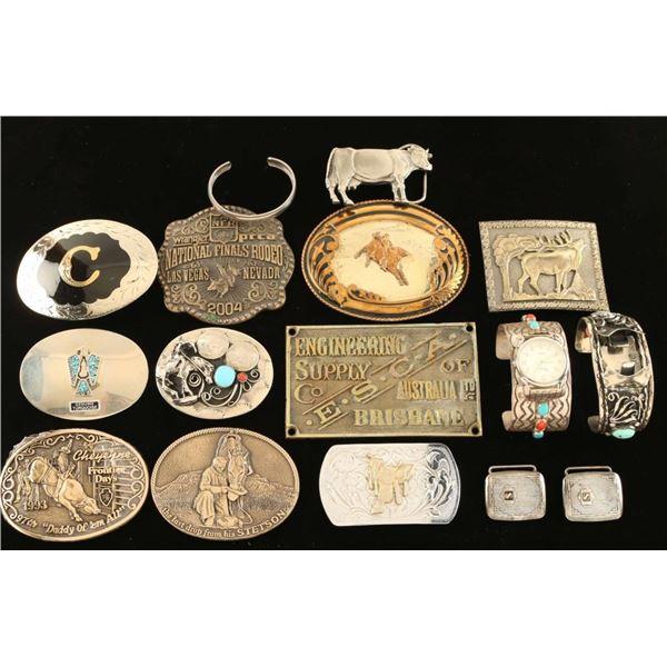 Belt Buckle & Jewelry Lot