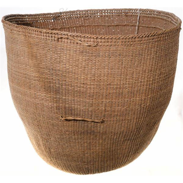 Large Hand Woven Jungle Fiber Burden Basket