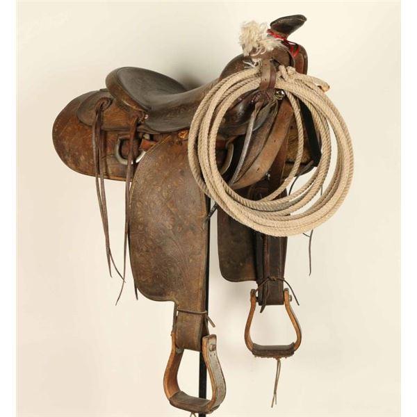 Tooled Leather Saddle