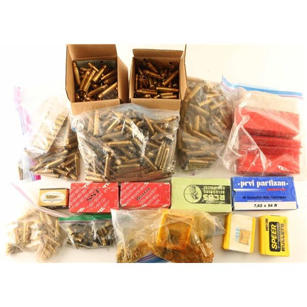 Lot of Brass and Bullets