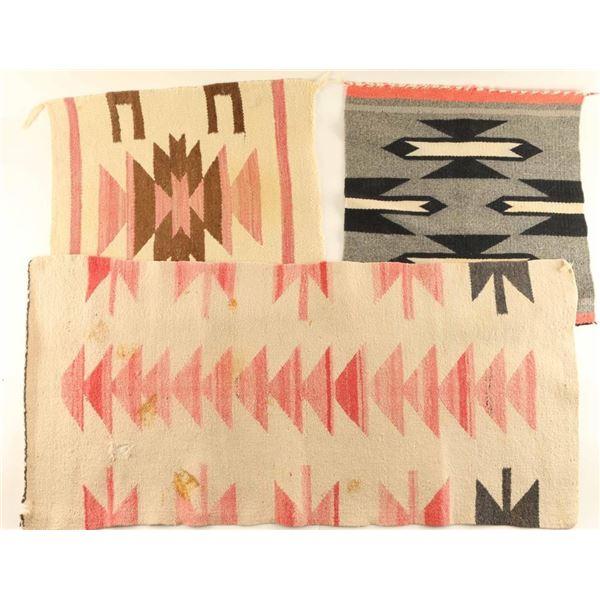 Lot of 3 Small Navajo Rugs