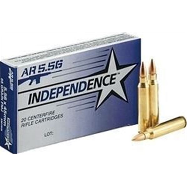 Independence XM193 5.56 NATO 55 Grain FMJ - 20 RDS