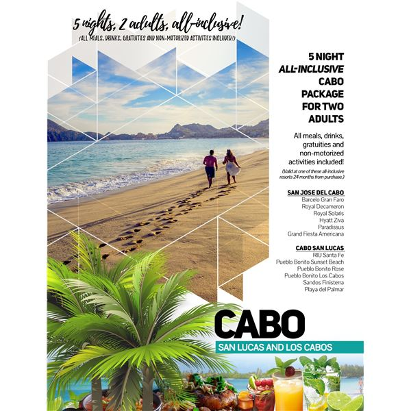 5- Nights All Inclusive for 2 Adults to Cabo
