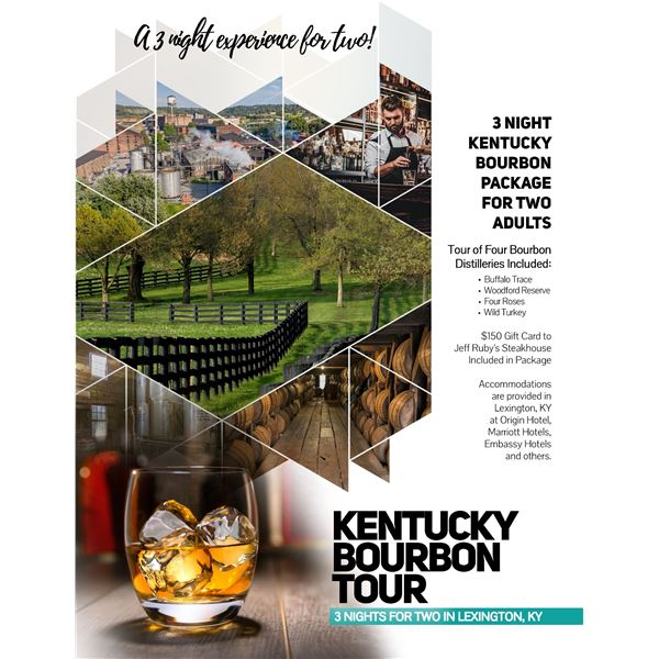 3 Night Kentucky Bourbon Package for 2 Adults