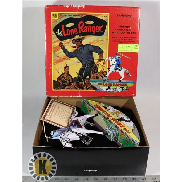 THE LONE RANGER VINTAGE COLLECTIBLE WIND UP TIN