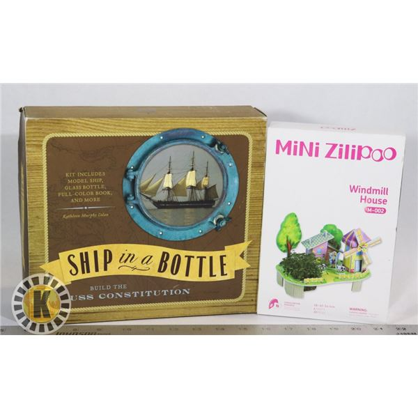 NEW ITEMS SHIP IN A BOTTLE BUILD KIT