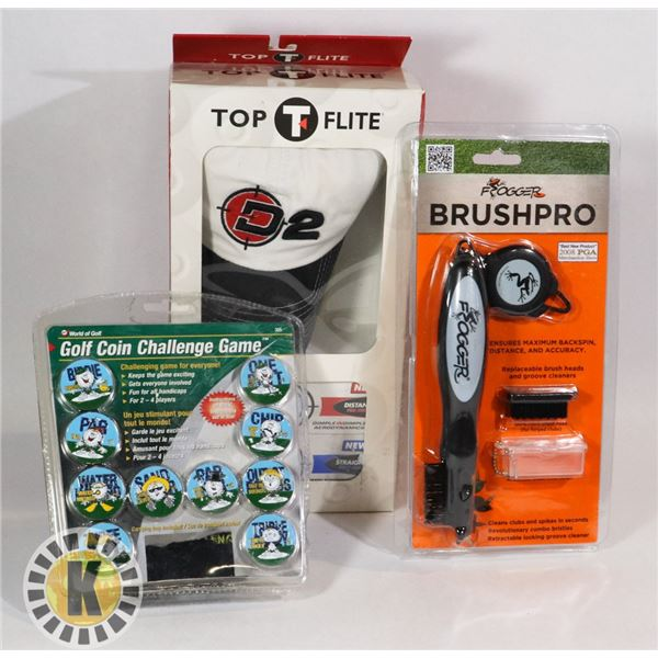NEW GOLF ITEMS FROGGER BRUSHPRO