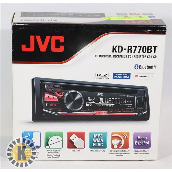 BRAND NEW JVC CAR CD BLUETOOTH