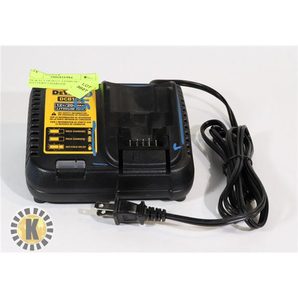 DEWALT DCB115  LITHIUM ION BATTERY CHARGER