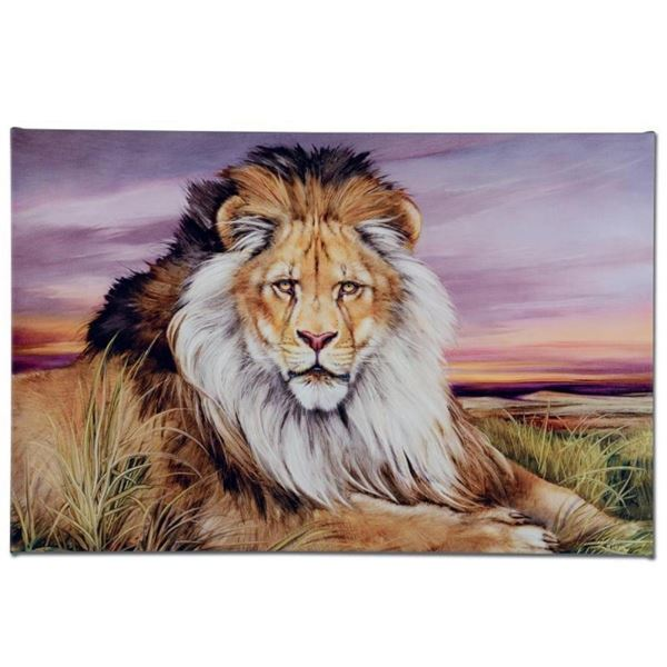"""""""African Lion"""" Limited Edition Giclee on Canvas by Martin Katon, Numbered and Ha"""