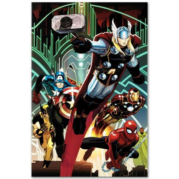 """Marvel Comics """"Avengers #5"""" Numbered Limited Edition Giclee on Canvas by John Ro"""