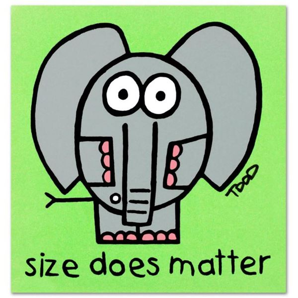 """Size Does Matter"" Limited Edition Lithograph by Todd Goldman, Numbered and Hand"