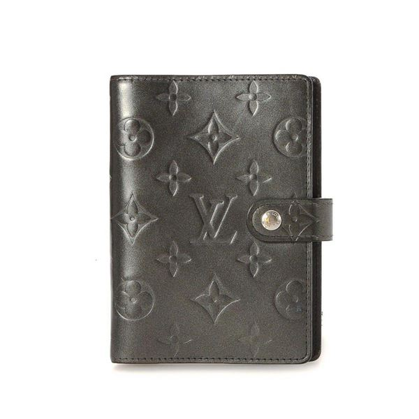 Louis Vuitton Grey Monogram Small Ring Agenda Cover Wallet