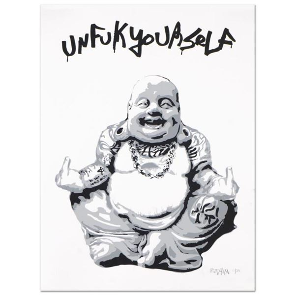 "Padhia Avocado, ""Gangsta Buddha"" Limited Edition Silkscreen, Numbered and Hand S"