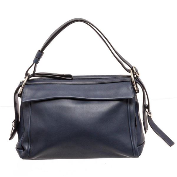 Marc Jacobs Navy Prism 34 Leather Shoulder Bag