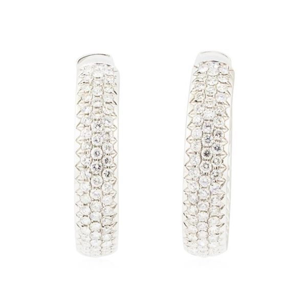 8.00 ctw Diamond Earrings - 18KT White Gold