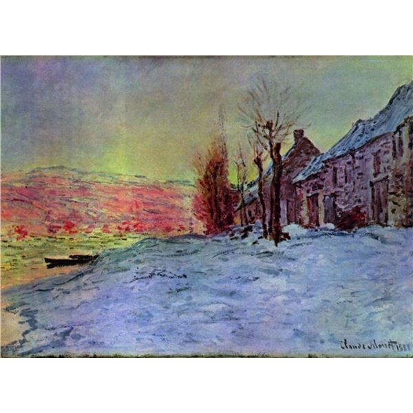 Claude Monet - Lava Court - Sunshine and Snow