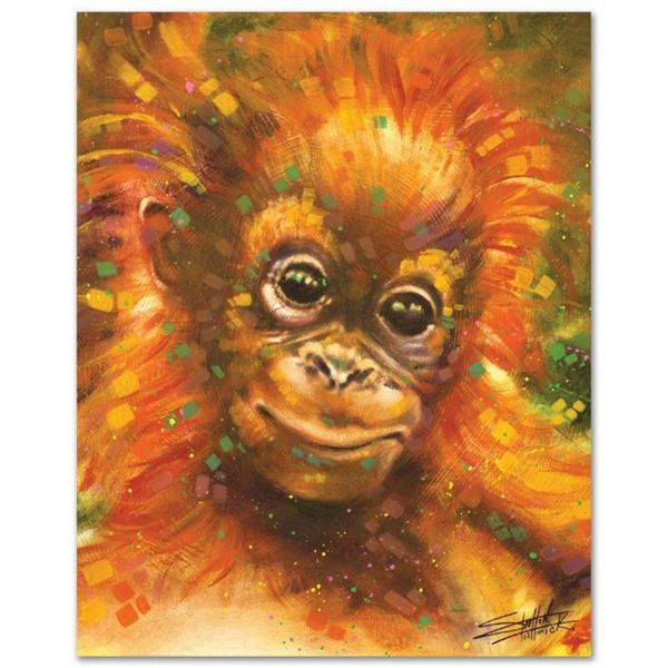 """Baby Orangutan"" Limited Edition Giclee on Canvas by Stephen Fishwick, Numbered"