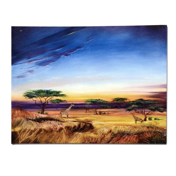 """Africa at Peace"" Limited Edition Giclee on Canvas by Martin Katon, Numbered and"