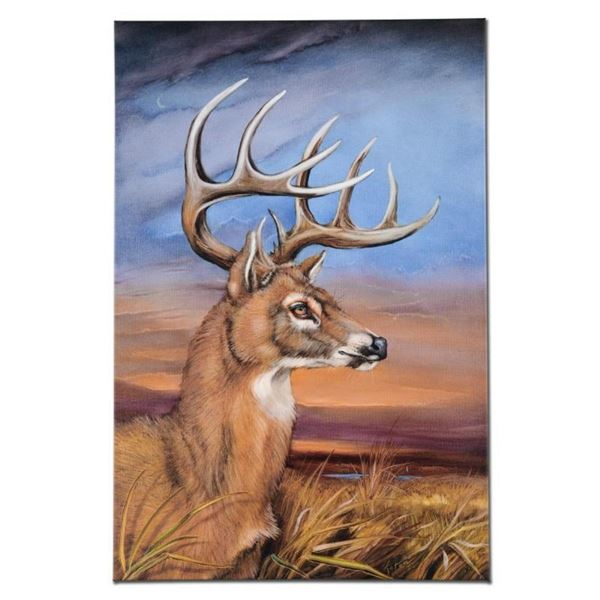 """Stunning Stag"" Limited Edition Giclee on Canvas by Martin Katon (24"" x 36""), Nu"