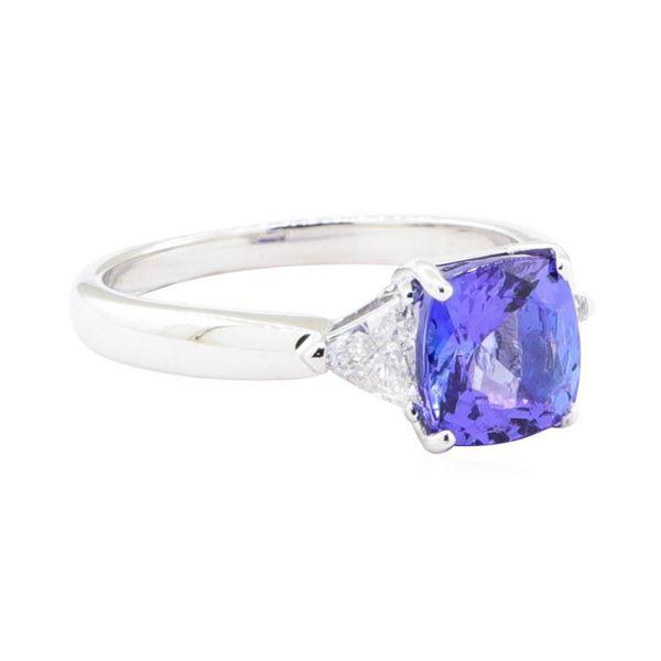 2.58 ctw Tanzanite And Diamond Ring - 18KT White Gold