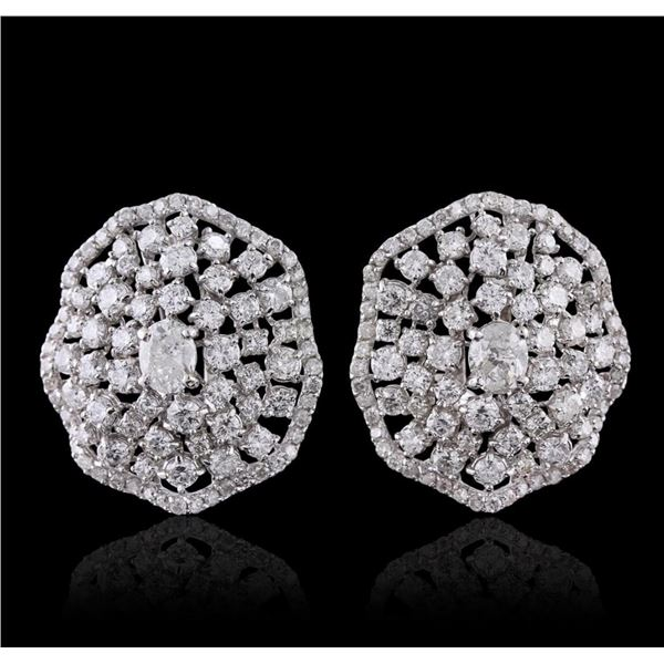 14KT White Gold 4.43 ctw Diamond Earrings