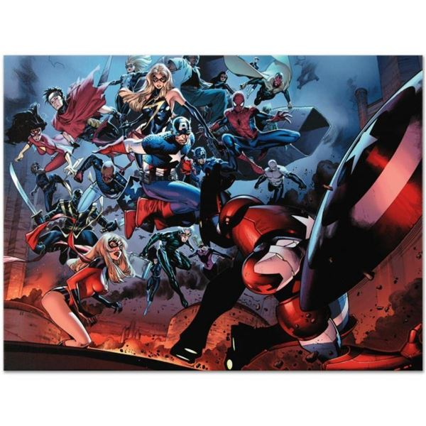 "Marvel Comics ""Siege #3"" Numbered Limited Edition Giclee on Canvas by Oliver Coi"