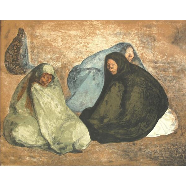 Group de Mujeres Sentadas I (Group of Seated Women I) by Francisco Zuniga 32/92