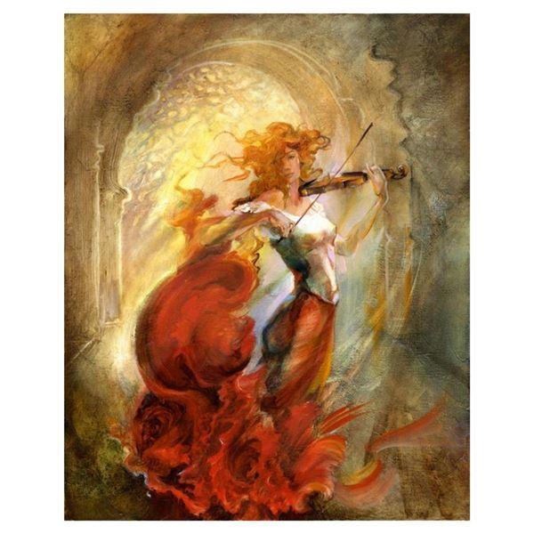 "Lena Sotskova, ""Firebird"" Hand Signed, Artist Embellished Limited Edition Giclee"