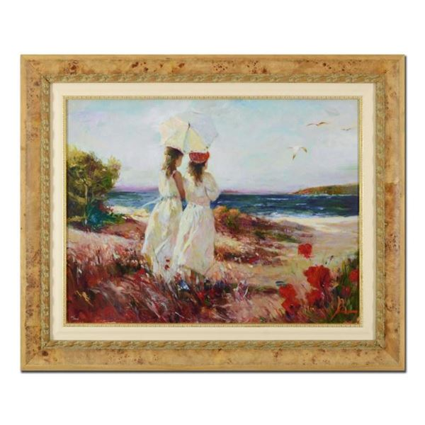 """Pino (1939-2010), """"Sister"""" Framed Limited Edition Artist-Embellished Giclee on C"""