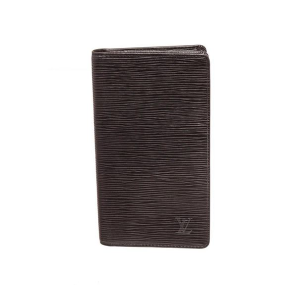 Louis Vuitton Black Epi Leather Passport Agenda Wallet
