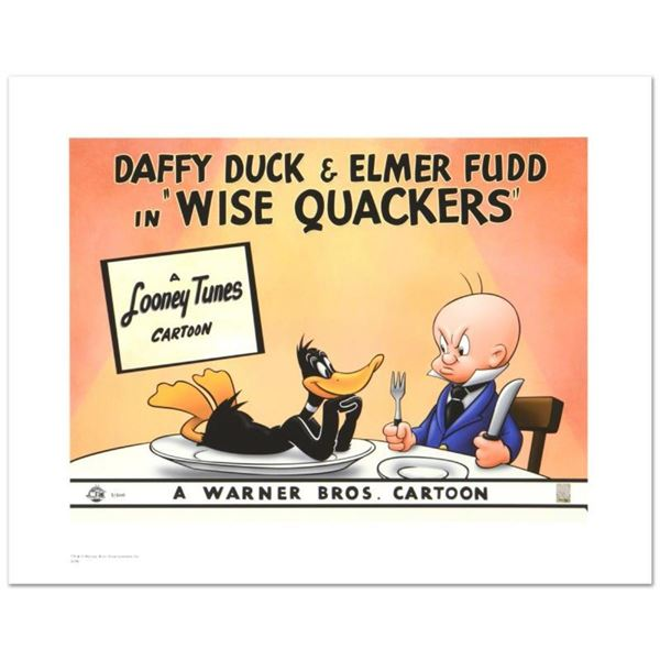 """Wise Quackers"" Limited Edition Giclee from Warner Bros., Numbered with Hologram"