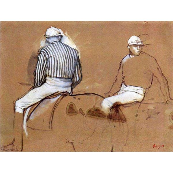 Edgar Degas - Two Jockeys