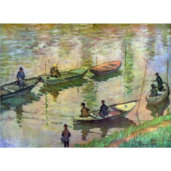 Claude Monet - Fishermen on the Seine at Poissy