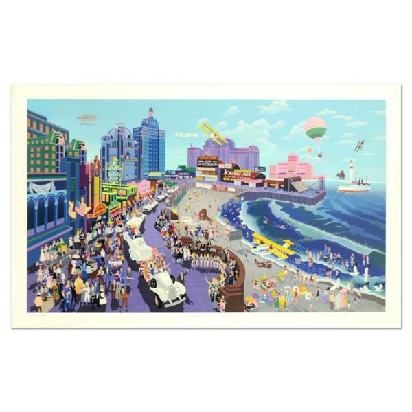 "Melanie Taylor Kent, ""Boardwalk of Atlantic City"" Limited Edition Serigraph (44"""