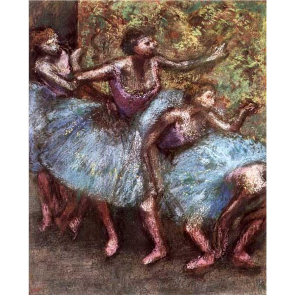 Edgar Degas - Four Dancers Behind The Scenes #1
