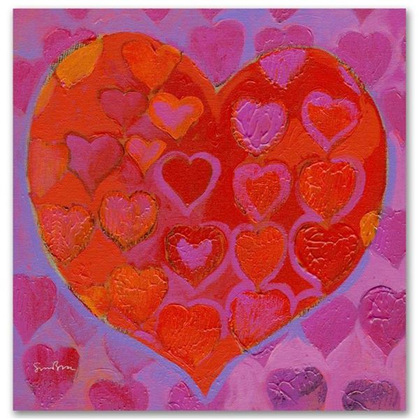 """Playful Heart VI"" Limited Edition Giclee on Canvas by Simon Bull, Numbered and"
