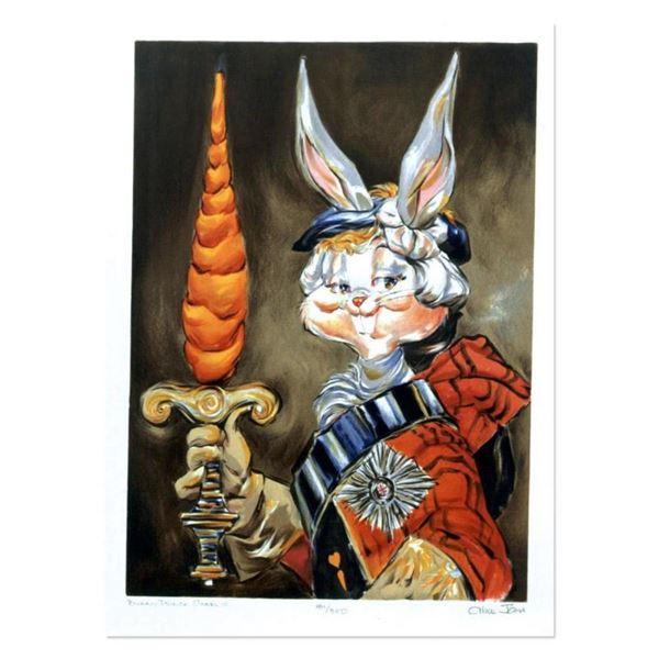 "Chuck Jones ""Bunny Prince Charlie"" Hand Signed Limited Edition Fine Art Stone Li"