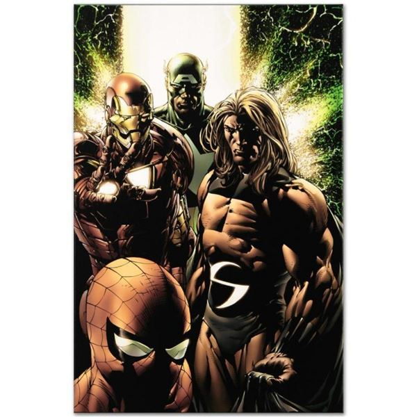 "Marvel Comics ""New Avengers #8"" Numbered Limited Edition Giclee on Canvas by Ste"