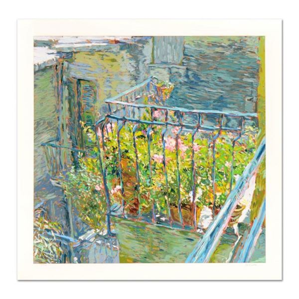 "Marco Sassone, ""Le Balcon Blueae"" Limited Edition Serigraph, Numbered and Hand S"