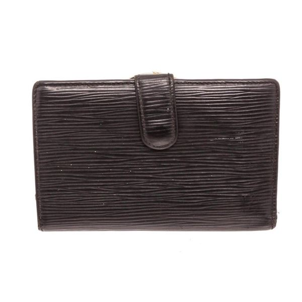 Louis Vuitton Black Epi Leather French Wallet