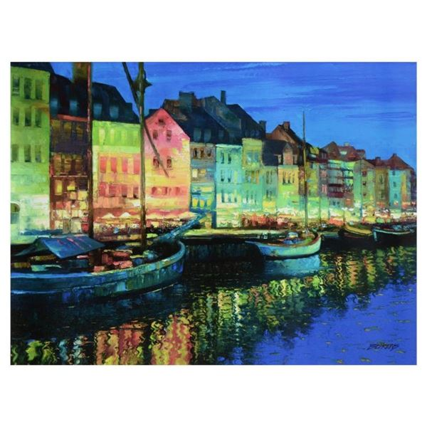 "Howard Behrens (1933-2014), ""As Night Falls, Copenhagen"" Limited Edition on Canv"