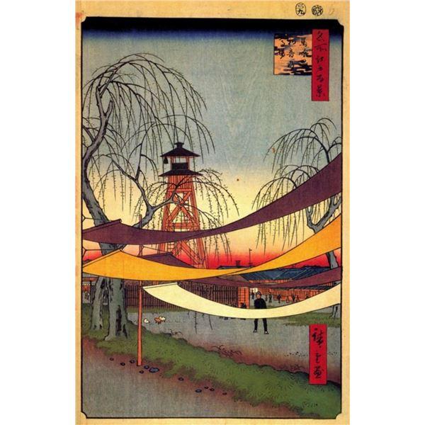 Hiroshige  - Hatsune Riding Ground