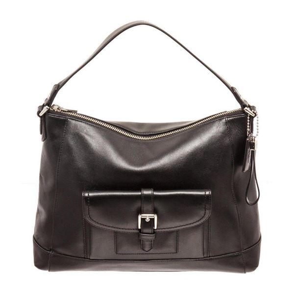 Coach Black Charlie Leather Hobo Bag